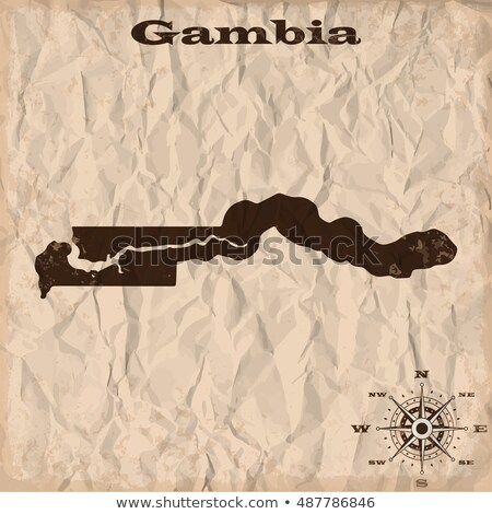 Gambia grunge mappa del tesoro mappa tesoro stile Foto d'archivio © speedfighter