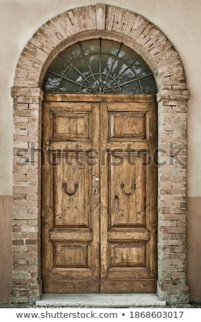 Antika kapı donanım bahçe Stok fotoğraf © RAM