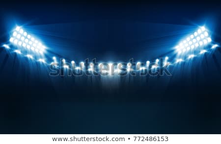 estádio · luzes · luz · meio-dia · nuvens · futebol - foto stock © stevanovicigor