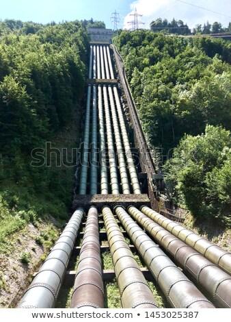 erőmű · folyó · fő- · mező · tó · ipari - stock fotó © magann