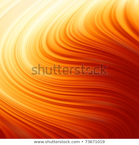 résumé · vague · flaming · rouge · or · horizontal - photo stock © wenani