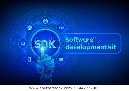 robot with tools and sdk sign technology concept stock photo © kirill_m