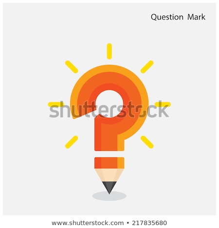 Pencil Question Mark Stock photo © Lightsource