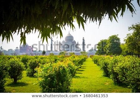 kettő · minaret · Taj · Mahal · mauzóleum · császár · becsület - stock fotó © faabi