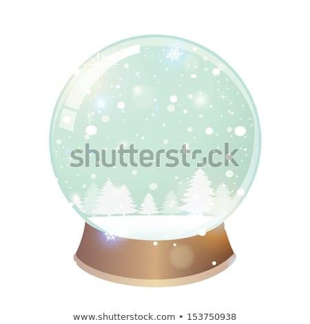 Karácsony üveg hó labda grunge papír Stock fotó © cherju