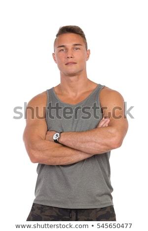 młodych · muskularny · człowiek · talia - zdjęcia stock © maros_b