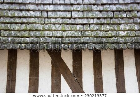 対角線 · 詳細 · ブラウン · 木材 · 屋根 · 建設 - ストックフォト © meinzahn