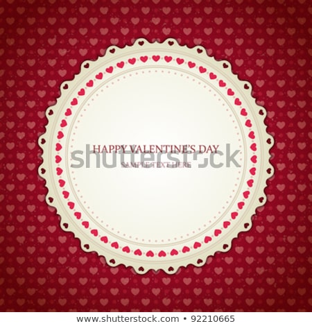corner frame of red hearts on a white background for a valentines day stock photo © impresja26
