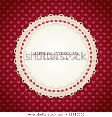 Canto quadro vermelho corações branco dia dos namorados Foto stock © impresja26