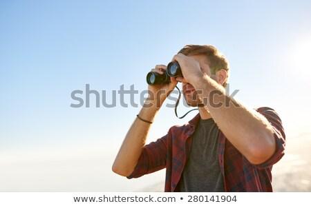 se · demander · découverte · ombre · enfant · sur · touch - photo stock © hasloo