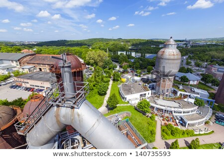 industriële · blauwe · hemel · technologie · Blauw · industrie · olie - stockfoto © meinzahn