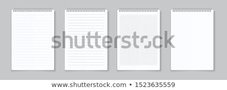 Empty checkered paper spiral notebook Stock photo © ShawnHempel