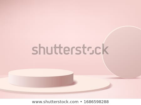 Abstract background with heart in glass Stock photo © Elmiko