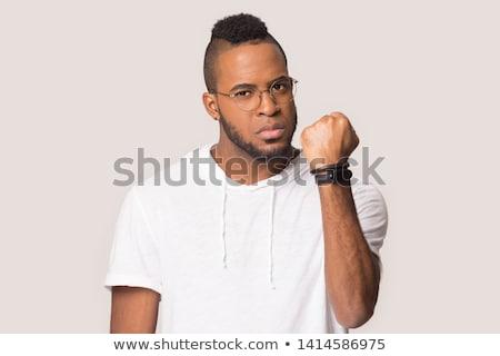 öfkeli yumruk dirsek adam el vücut Stok fotoğraf © 5xinc