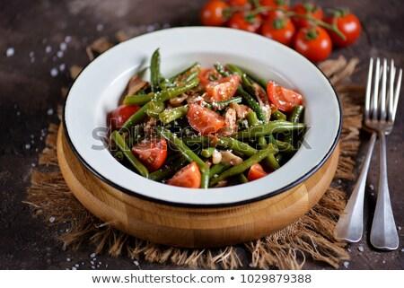 Salade groene olijfolie zomer tomaat lunch Stockfoto © M-studio