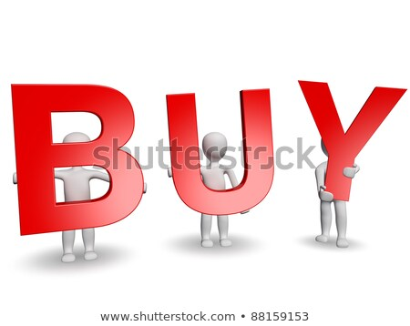 3D humans forming red BUY word Stock photo © Giashpee