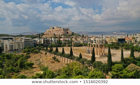 Temple of Olympian Zeus aerial view in Athens Stock photo © AndreyKr