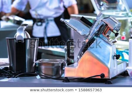 férfi · dolgozik · szakács · ázsiai · étterem · konyha - stock fotó © juniart