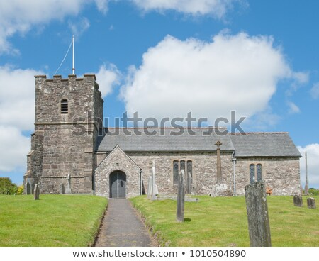 Medieval church and churchyard Stock photo © Hofmeester