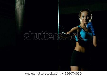 corpo · jovem · menina · escuro · belo - foto stock © geribody