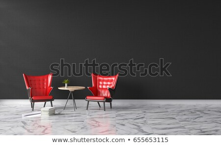 white brick wall office inteior leather armchair and lighting stock photo © vizarch