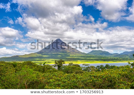 Lake with a volcano in the background, Costa Rica Stock photo © bmonteny