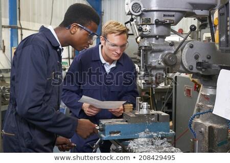 инженер ученик дрель завода человека Сток-фото © HighwayStarz