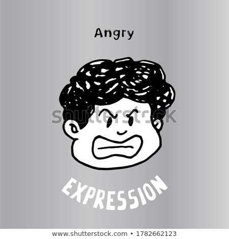 Emoticon galben alb negru grafic tăiat Imagine de stoc © mariephoto