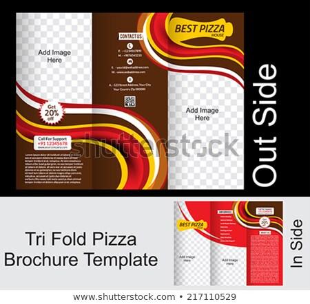 ピザ パンフレット インターネット デザイン ドリンク チーズ ストックフォト © rioillustrator
