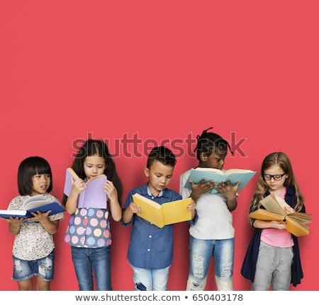 çocuk · okuma · kitaplar · yorgun · erkek - stok fotoğraf © d13