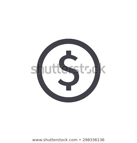 valuta · érme · vektor · piktogram · kép · izolált - stock fotó © mr_vector