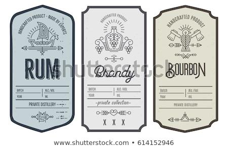 Etiketler şişeler dekorasyon farklı Stok fotoğraf © valpict