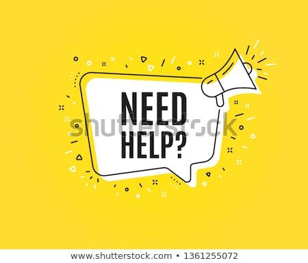 need help? Stock photo © flipfine