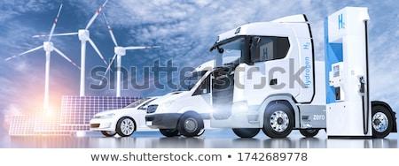 Idrogeno auto bianco design energia futuro Foto d'archivio © tilo