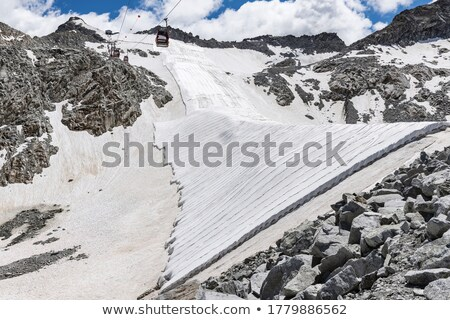 geotextile fabrics in Presena glacier stock photo © Antonio-S