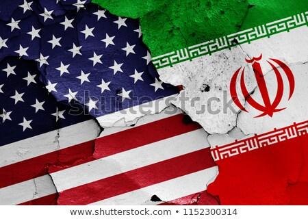 EUA Irã Estados Unidos américa metade país Foto stock © tony4urban