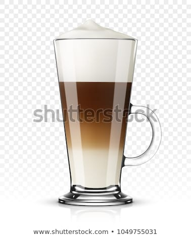 latte macchiato with coffee beans stock photo © rob_stark