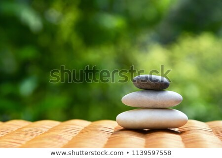 pyramid of three stones stock photo © calek