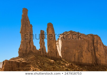 the three sisters in monument valley tribe park stock photo © meinzahn