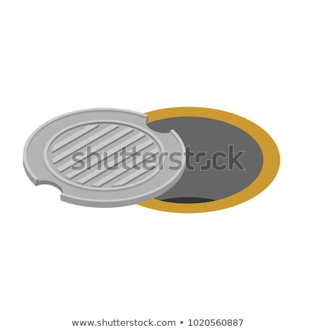 Open Sewer Pit Vector Illustration Stock foto © MaryValery