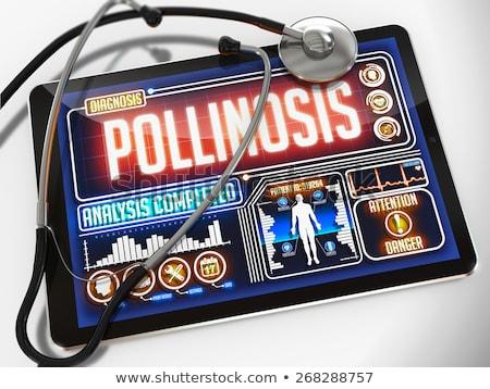 pollinosis on the display of medical tablet stock photo © tashatuvango