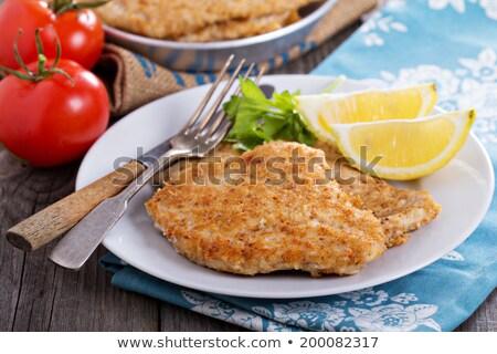 巴馬 豬肉 魚片 奶酪 商業照片 © phbcz