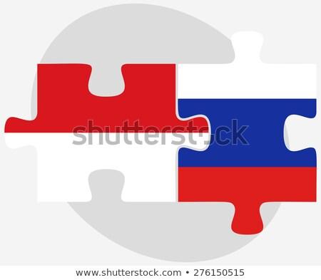 Indonézia orosz puzzle vektor kép izolált Stock fotó © Istanbul2009