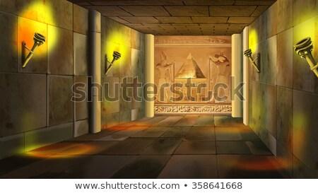 Wnętrza grób Egipt ciemne budynku podróży Zdjęcia stock © Mikko