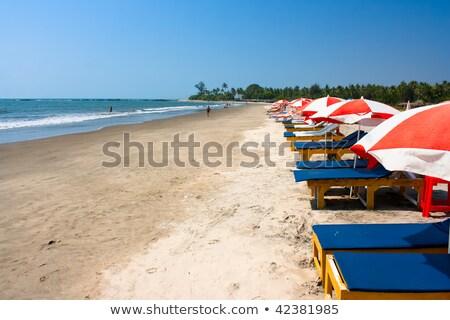 Foto stock: Cama · praia · Índia · goa · água