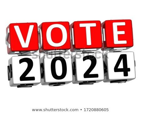 Politica testo rosso bianco rendering 3d puzzle Foto d'archivio © tashatuvango