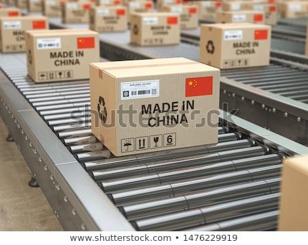 Chinês fábricas mapa China pequeno lupa Foto stock © bonathos