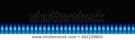 alto · chama · azul · chamas · dentro · fogo - foto stock © lizard
