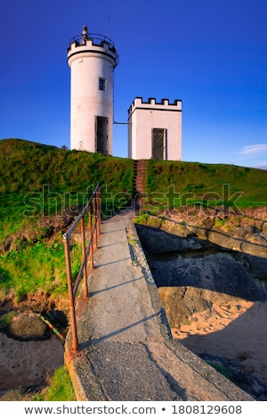 phare · sud · Écosse · ciel · herbe · vert - photo stock © photopb