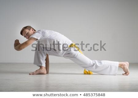 capoeira dancer posing  stock photo © fanfo